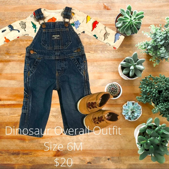 Dinosaur Overall Outfit